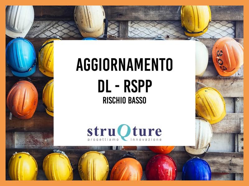 Aggiornamento DL con il ruolo di RSPP - Rischio Basso