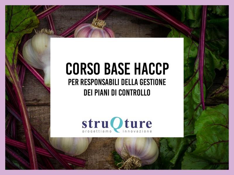Corso base HACCP - gestione dei piani di controllo